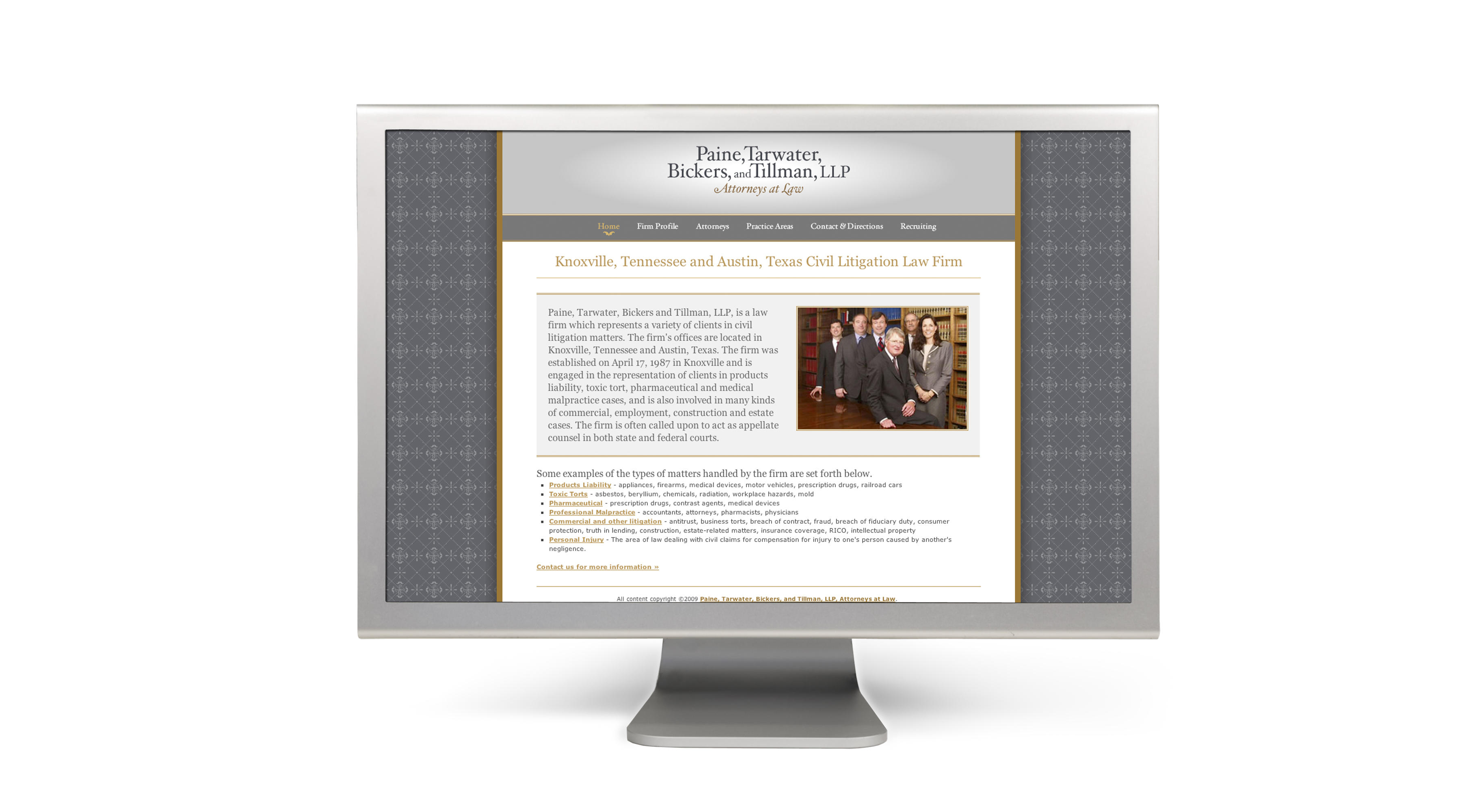 PTW web2 Paine, Tarwater, Bickers, and Tillman, LLP