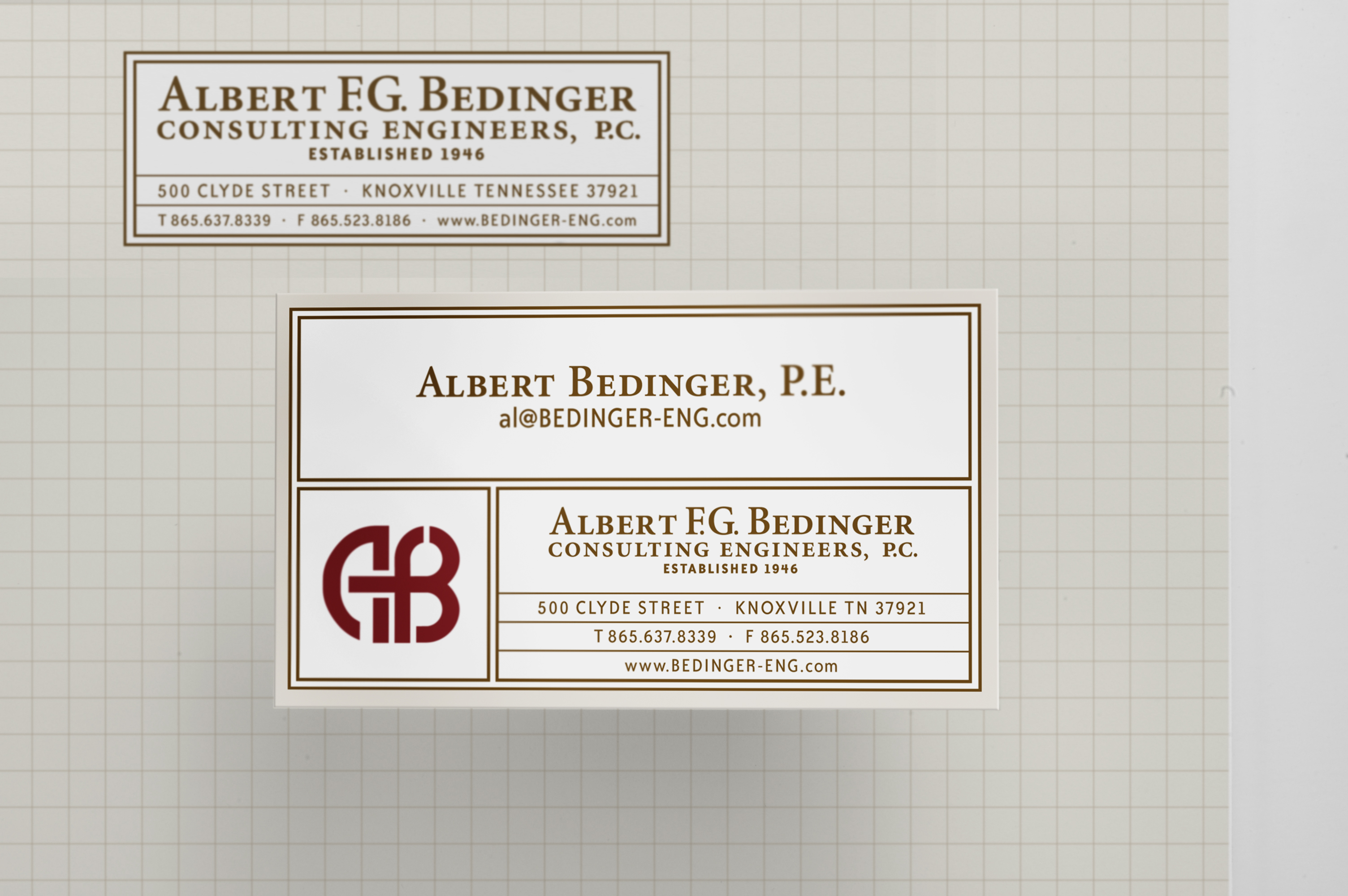 abc bizcards Albert F.G. Bedinger Consulting Engineers, P.C.