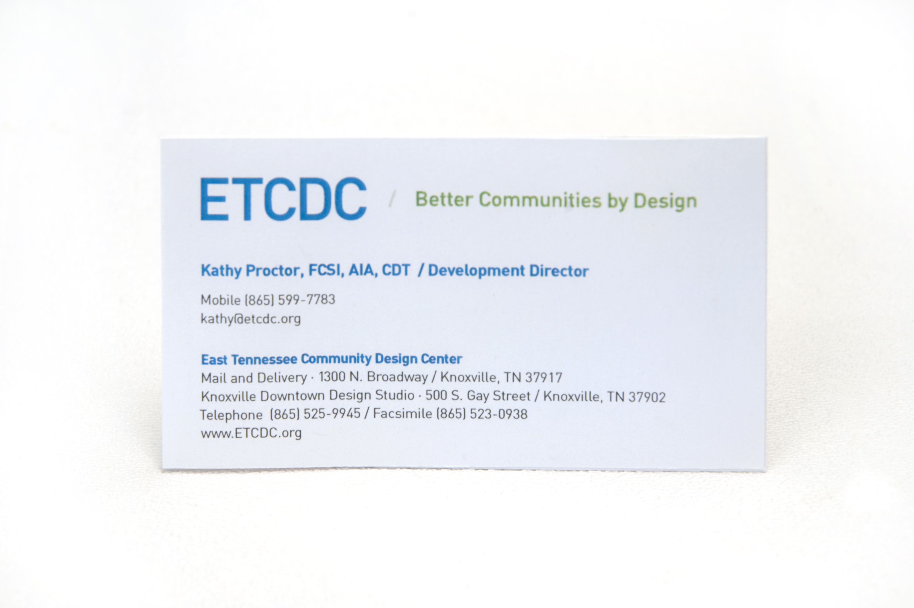bizcard East Tennessee Community Design Center